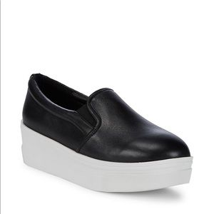 J/SLIDES | Leather Platform Sneakers Slip Ons Shoe